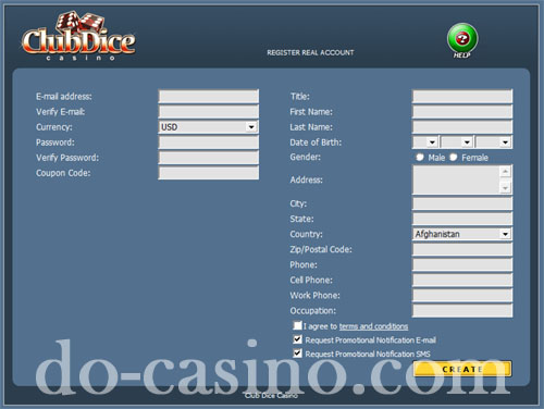 Club Dice Casino real play registration2