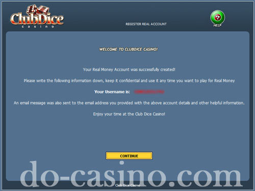 Club Dice Casino real play registration5