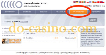 MoneyBookers credit card registration