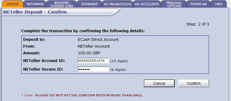 Neteller phone number